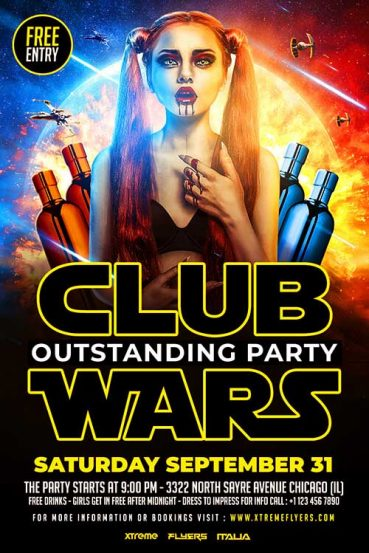 Star Wars Club Flyer Template