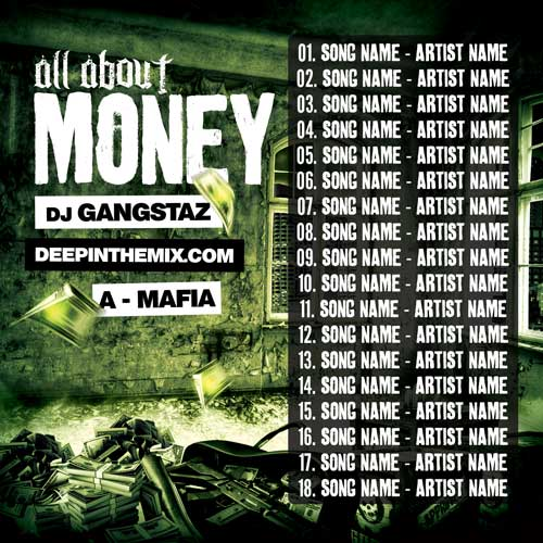 All About Money Mixtape Cover Template PSD