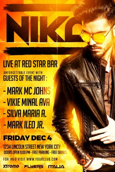 Nika DJ Flyer Template