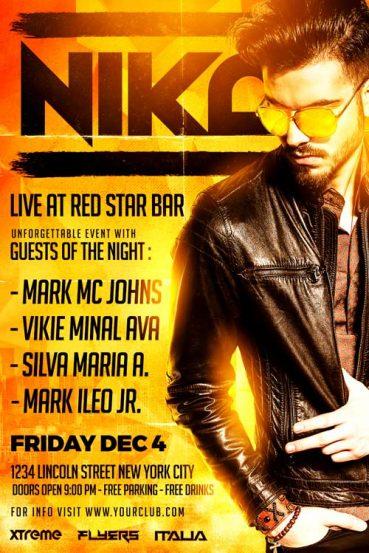 Nika DJ Flyer Template